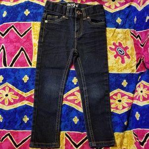 Cat & Jack Girls Dark Denim Jeans 3T Toddler